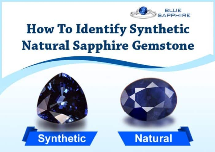 How To Identify Synthetic Natural Sapphire Gemstone